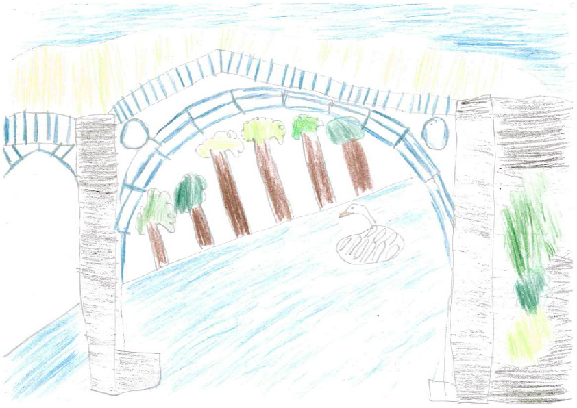 The Iron Bridge by Ben aged 8