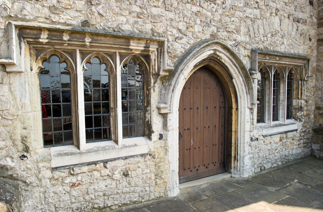 Bridge Chapel front door and windows