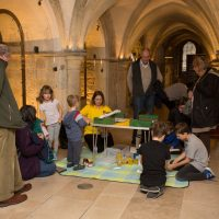 Rochester Bridge Trust hosts a free Bridge Building Day in The Crypt at Rochester Cathedral, Rochester. The Crypt, Rochester Cathedral, College Yard, Rochester, Kent. ME1 1SX.