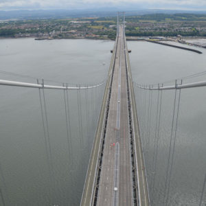 Forth Road bridge from top